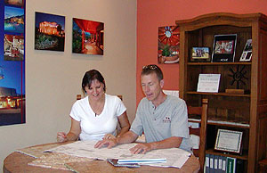 Tucson Artisan Builders staff meets with home client.